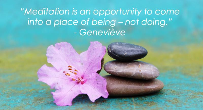 Genevieve meditation quote