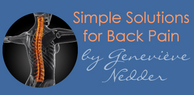 simple solutions for back pain by Genevieve