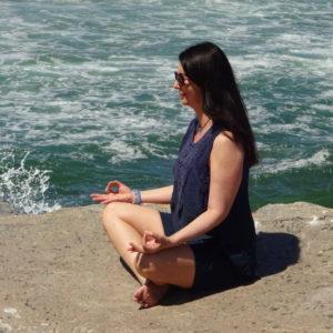 Genevieve meditates practices mindfulness