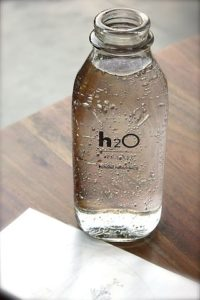 Water in a bottle-